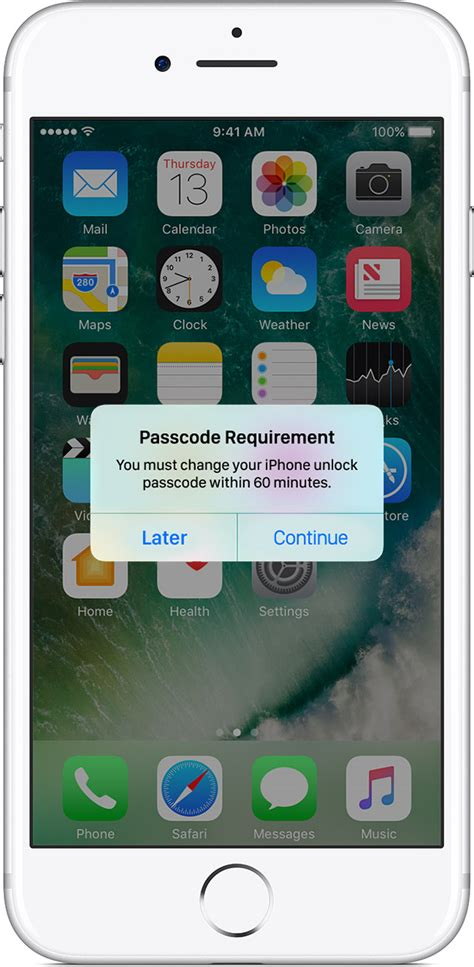 Use a passcode with your iPhone, iPad, or iPod touch